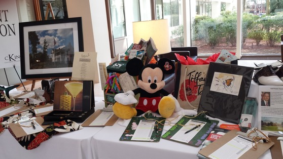 Silent Auction Item Displays